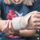 wrist in brace personal injury