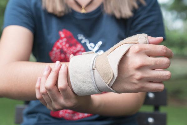 wrist in brace personal injury
