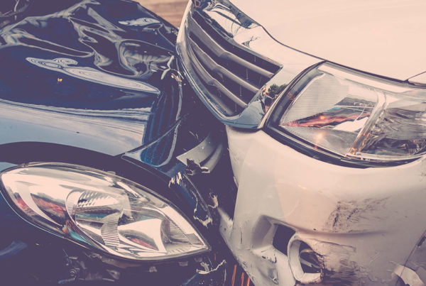 head on collision hit and run auto accident