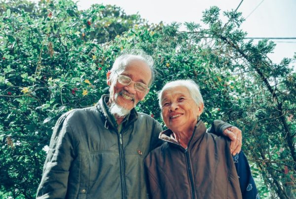 elderly couple living in nursing home