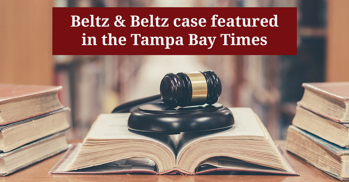 tampa bay times featured beltz & Beltz auto accident case