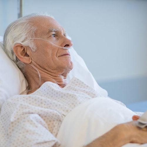 elderly man in nursing home sick coronavirus