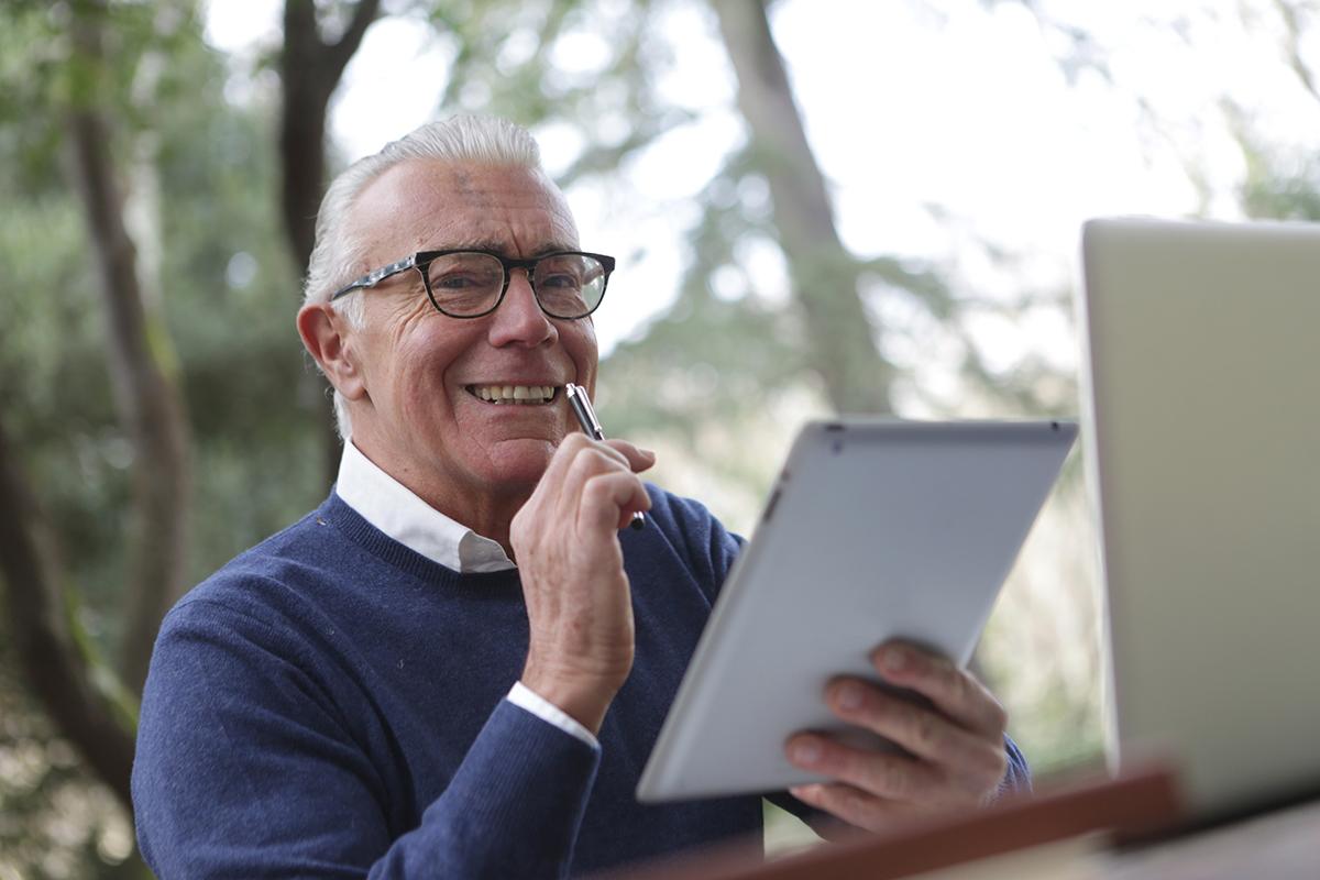 elderly man in nursing home stimulus check